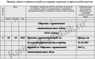 Прием на работу переводом из другой организации — приказ, запись в трудовой, заявление