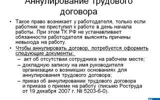 Аннулирование трудового договора — приказ, с иностранным работником, заявление