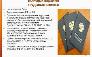 Правила ведения трудовых книжек в рф (2019)