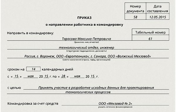 Образец приказа о сокращении подразделения организации