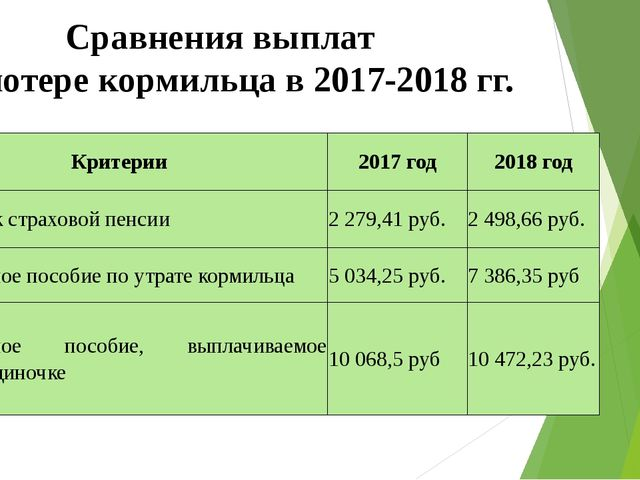 Будет ли увеличение пенсии по потере кормильца в 2019 году