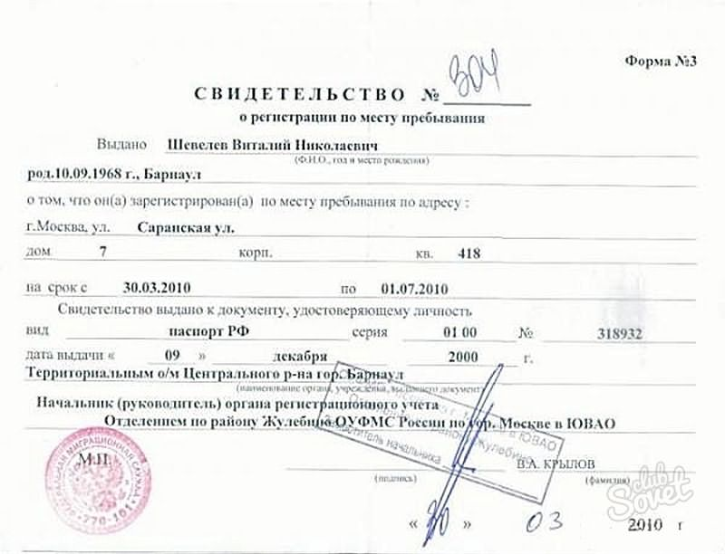 Свидетельство о предоставлении временного убежища на территории рф до 01 2020