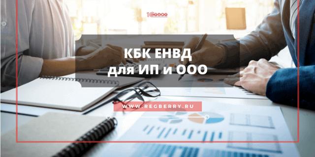 КБК по ЕНВД 2020 для юридических лиц, ИП