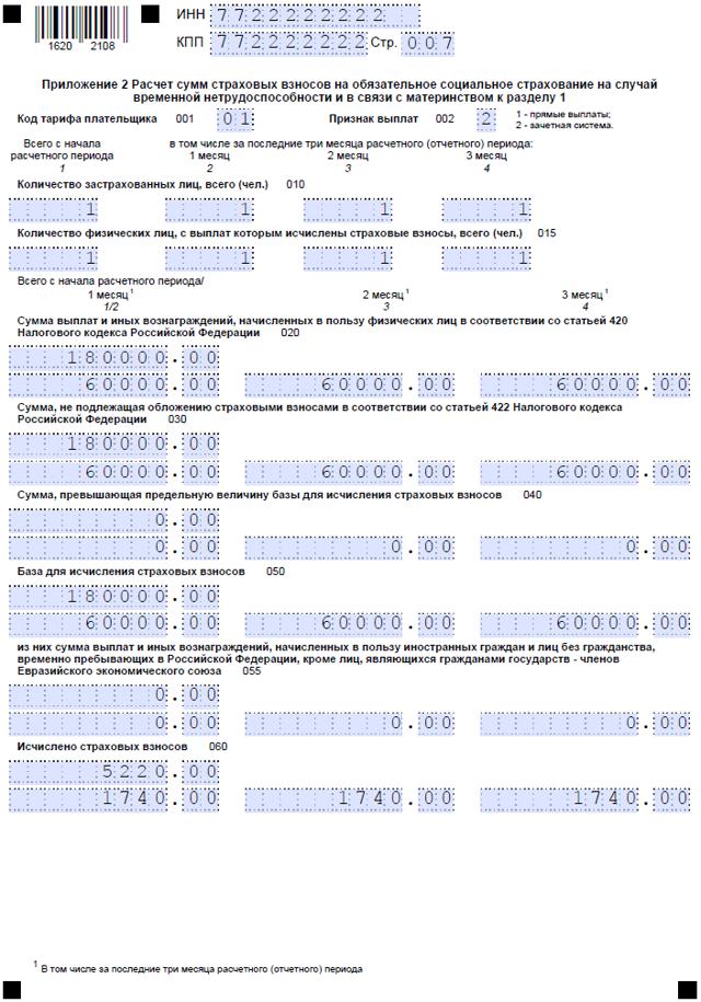 Корректировка РСВ-1 в 2020 году