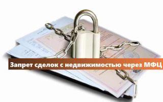 Запрет на совершение регистрационных действий с недвижимостью в 2020 году