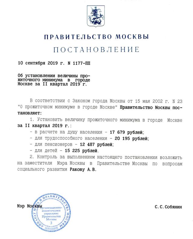 МРОТ по Москве в 2020 году: таблица значений
